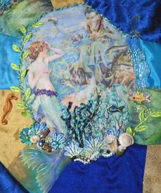 mermaid crazy quilt - Google Search