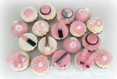 makeup cupcake toppers