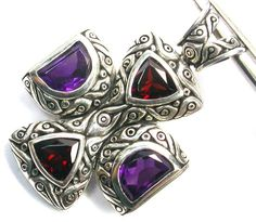 AMETHYST/GNT PENDANT DIRECT FROM FACTORY 37.65 CTS [SJ1199]