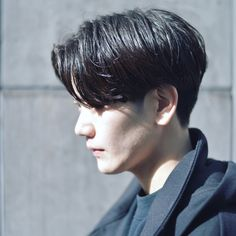 Korean Haircut Men, Asian Man Haircut, Asian Men Hairstyle, Asian Hair, V Hair, Cut My Hair, Hair Cuts, Middle Part Hairstyles, Boy Hairstyles
