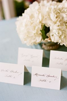escort cards - gorgeous in calligraphy!