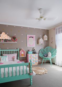 One Room, Three Looks: A Cotton Candy-Inspired Girl's Room#nousDECOR