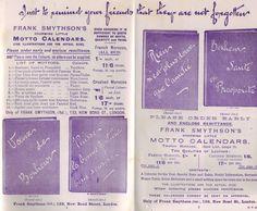 Bond Street Calendar advert, 1910 www.smythson.com