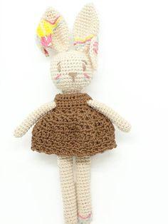 Plume mon Lapin indien / poupée lapin / poupée fait main /