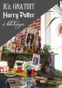 Organize an unforgettable Harry Potter party thanks to the many elements . Harry Potter Fiesta, Décoration Harry Potter, Harry Potter Birthday, Cadeau Harry Potter, Anniversaire Harry Potter, Harry Potter Invitations, Harry Potter Printables, Harry Potter Sequence, Harry Potter Enfants