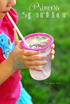 Princess Party Ideas: Princess Sparklers Layered Drink