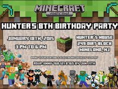 MINECRAFT INVITATION BIRTHDAY MINECRAFT BIRTHDAY CARD Minecraft printable invitation http://partyprintable.weebly.com/  http://partyprintable.weebly.com/  Minecraft printable decoration, Minecraft birthday party decoration, Minecraft gifts, Minecraft invitation, Minecraft, Minecraft creeper, Creeper decoration, Minecraft digital file, Minecraft free decoration, minecraft printables, minecraft food, minecraft stickers, creeper printables
