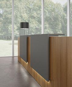 Mostrador para recepción modular Z2 by Quadrifoglio Sistemi d'Arredo diseño Centro Design Quadrifoglio