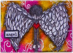 Angel ATC, Stampotique stamps of course ;)