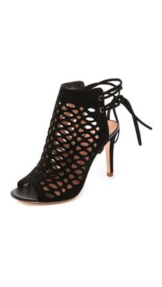 clayton cutout booties / joie