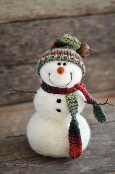 Needle Felted Snowman by Teresa Perleberg                                                                                                                                                     More