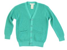 Waffle grandpa cardigan with front hip pocket insert.
