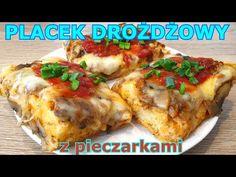 Placek drożdżowy z pieczarkami bez zagniatania i wałkowania 👌 Nikt nie wierzy, że to takie łatwe 👍 - YouTube Calzone, Lasagna, Baked Potato, Pizza, Meat, Ethnic Recipes, Youtube, Food, Pie