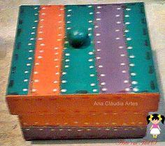 caixa personalizada ,porta jóias mdf com decoupagem