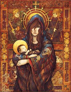 madonna and child. parker fitzgerald and brittany richardson.