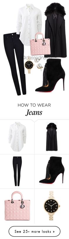 """""""Untitled #174"""" by mama-liciuos on Polyvore featuring Giorgio Armani, rag & bone, Christian Louboutin, Zara, Christian Dior and Marc by Marc Jacobs"""