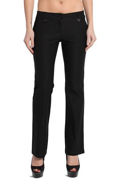 TheMogan Women's Straight Leg Low Rise Stretch Trousers ** This is an Amazon Affiliate link. See this great product.