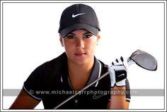 golf senior pictures | Houston Senior Portrait Photography | Michael Carr Photography