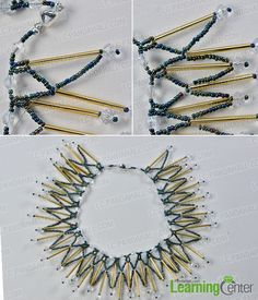 Wanna make bib necklace yourself? If yes, today's Pandahall tutorial on how to make girl's bib necklace with seed beads and glass beads worthy your attention a lot!
