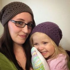 Corn on the Monkey: FREE PATTERN crochet striped slouchy beanie. Adorable!