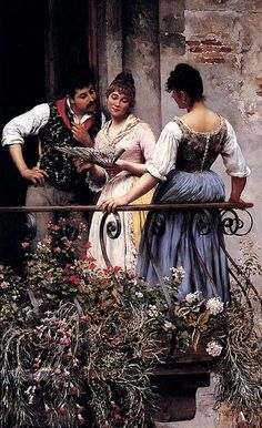 Eugene de. Blaas. Austrian painter born 1843- died 1931