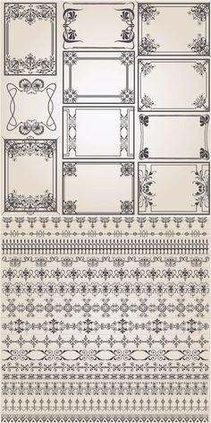 Decorative frames vintage style vector   Free Stock Vector Art & Illustrations, EPS, AI, SVG, CDR, PSD