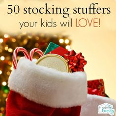 50 kid stocking stuffers that they will love! #christmas #stockingstuffers #giftideas