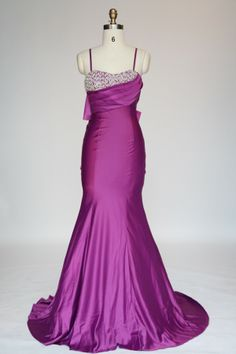 Mermaid/Trumpet Spaghetti Straps Satin Evening Dress JSLD0101