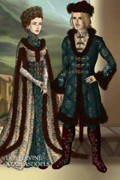 Russian Prince 'n' Princess ~ by StellaLo ~ created using the LotR Hobbit doll maker | DollDivine.com