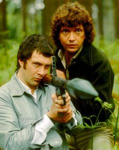 Martin Shaw as Ray Doyle and Lewis Collins as William Bodie are Cowley's two best agents in The Professionals. British Drama Series, British Comedy, The Professionals Tv Series, Martin Shaw, Action Films, People Of Interest, Old Tv, Classic Tv, Tv On The Radio