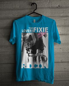 BOCETO GIRL_FIXIE_BLUE #ridcon #sexygirl #girl #bikelovers #fixie #fixietshirt #newtshirt