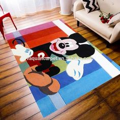 High Quality Cartoon Kids Rug Hand Tufted Wool Carpet With Children's Bedroom