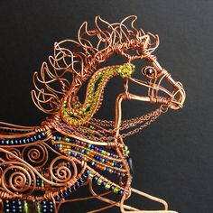 Carousel Pony Copper Wire Sculpture by sparkflight on Etsy, $950.00      Just stuuuuuuuuuuuning!!!!!
