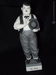 Figura de Oliver Hardy en auténtica porcelana de Algora certificada. Serie limitada. Perfecto estado - Foto 1