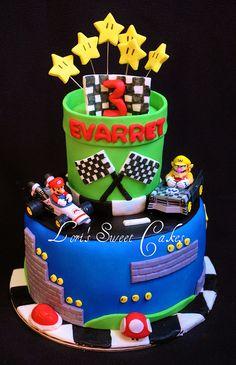 Mario Kart Cake by Lori's Sweet Cakes