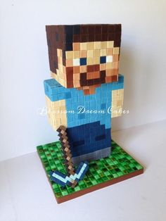 Minecraft Steve - Cake by Blossom Dream Cakes - Angela Morris