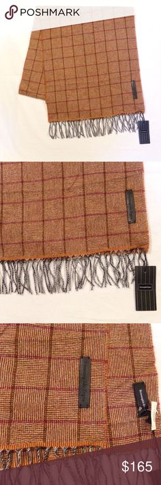"""New Ermenegildo Zegna Cashmere Scarf, Italy New Ermenegildo Zegna Scarf, Cashmere Made In Italy 68"""" x 15"""" without fringe The item pictured is the item you will receive Ermenegildo Zegna Accessories Scarves"""