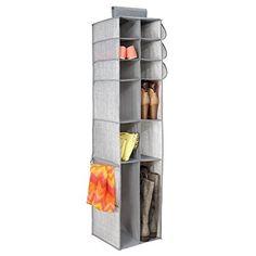 mDesign Fabric Hanging Closet Storage Organizer, for Shoe...