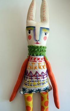 The Itsy Bitsy Spill: Finny the Rabbit by Magaly Ohika.  FABULOUS  doll artist!!