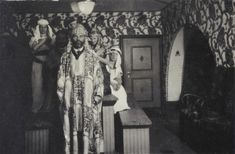 """Gustav Klimt at a fancy-dress ball at the Primavesi country house in Winkelsdorf, / wearing a cassock-like costume made of material with the """"Waldidyll"""" pattern, by Carl Otto Czeschka, which was also used in one of the guest rooms of the Primavesi estate. Klimt, Canvas Art Prints, World Famous Paintings, Famous Artwork, New Art, Poster Prints, Gustav Klimt, Artsy, Kiss Painting"""