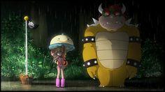 Tonari no Totoro x mario Super Mario Bros, Super Smash Bros, Hayao Miyazaki, Studio Ghibli, Caricatures, Mario Y Luigi, Mario Fan Art, Nintendo Princess, Princesa Peach