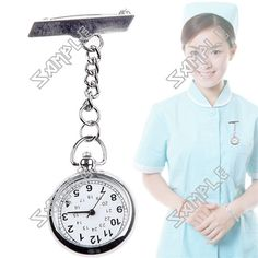Alloy Quartz Hang Watch Fob Watch Medical Applications with Safety Pin for Doctor Nurse Low Price Watches, Teenage Gifts, Safety, Quartz, College, Medical, Accessories, Color, Security Guard