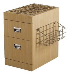 Accessory Cart - This trolley cart light wood comes with convenient cubbies to holster your nail products and pull out storage cabinets.