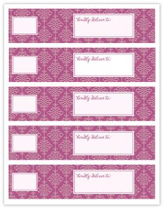 FREE Wrap Around Address Labels