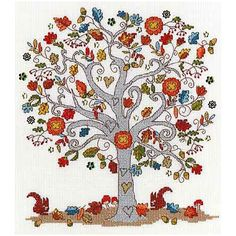 Love Autumn Cross Stitch Kit By Bothy Threads