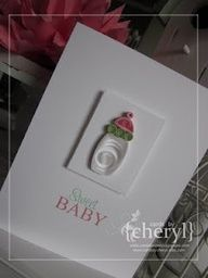 Cute quilled baby bottle card ~!~
