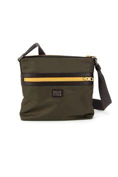 DOLCE  amp  GABBANA Nylon And Dauphine Calfskin Messenger Bag.  dolcegabbana   bags   09b3ab52d4d40