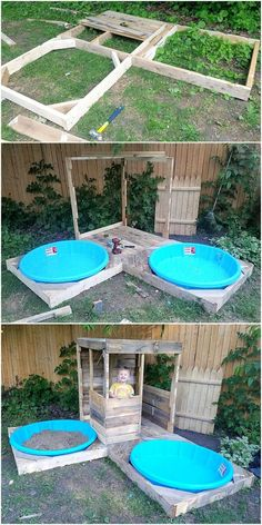 Do you love your kids and want to give them something surprising and useful? try out the simple creation of this DIY pallets kids playland. It is beautiful and Kids Outdoor Play, Outdoor Play Areas, Kids Play Area, Backyard For Kids, Outdoor Fun, Diy For Kids, Pallet Kids, Diy Pallet Projects, Backyard Projects