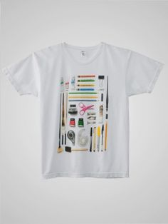 Screen Printed Power Washed Tee - Art Supplies