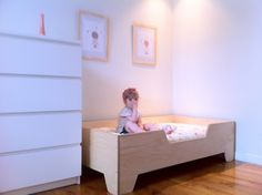 DIY Projects: DIY Toddler bed with birch plywood Toddler Floor Bed, Diy Toddler Bed, Toddler Girl Bedding Sets, Best Bedding Sets, Queen Bedding Sets, Black Bed Linen, Cheap Bed Sheets, Grey Bedding, Luxury Bedding